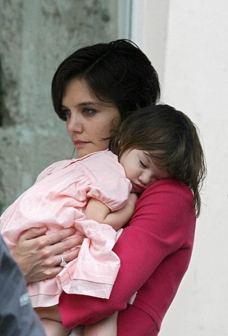Кэти Холмс с дочкой Сури