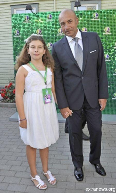 Игорь Крутой с дочкой Сашей