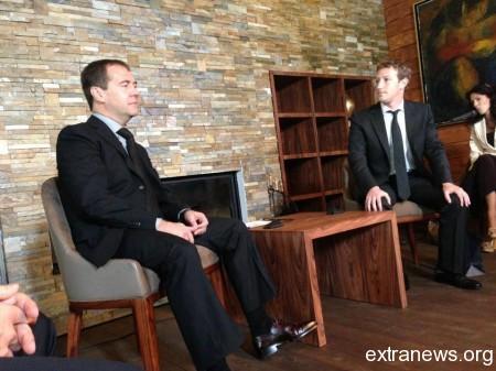 Марк Цукерберг и Дмитрий Медведев